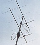 My homebrewn VHF yagi antenna's in Elst, stacked, about 12m above the ground.