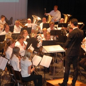 Me playing timpani at Pieter Aafjes, conducted by Arjan Gaasbeek.