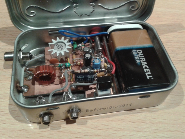 Transceiver in a mint tin